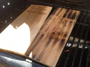 heated cedar planks, grilling salmon, josh martin blog