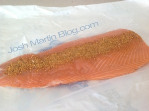 salmon rub. grilled, salmon, recipe, josh martin blog, how to
