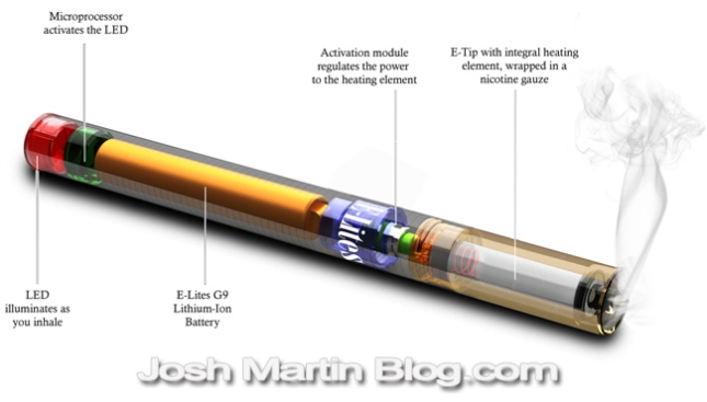 Common, E Cigarette schematic, how it works, electronic cigarette