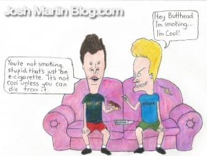bevis and butthead, ecigarette, vapor, stoned, smoking, cartoon